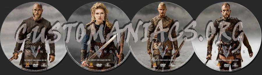 Vikings Season 3 dvd label