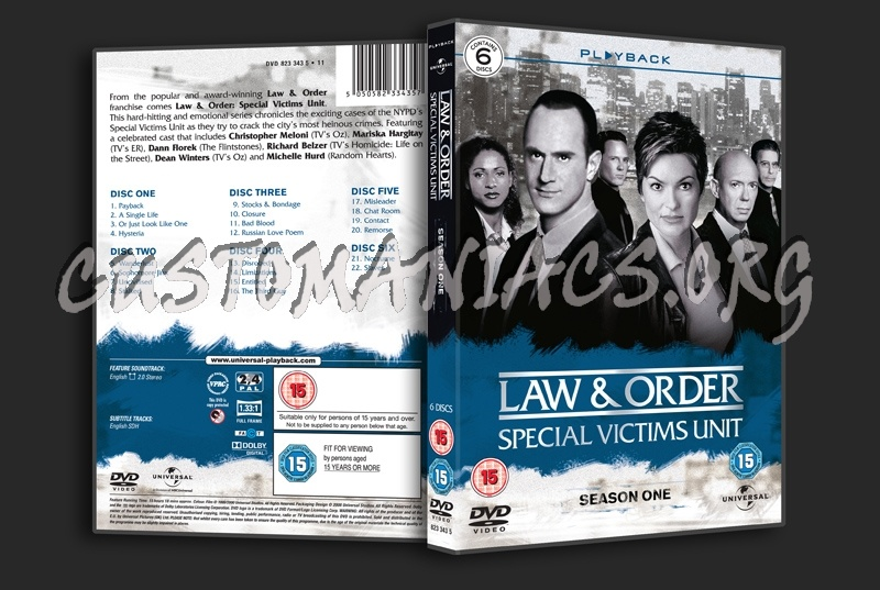 Law & Order Special Victims Unit Season 1 dvd cover
