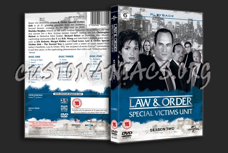Law & Order Special Victims Unit Season 2 dvd cover