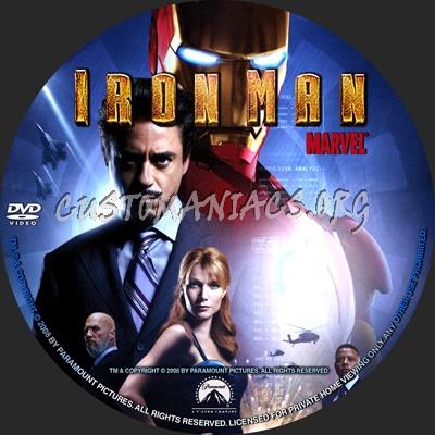 Iron Man dvd label