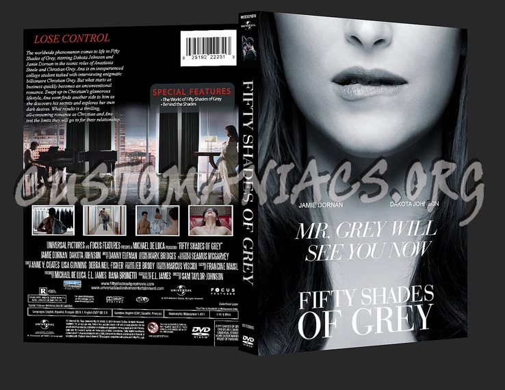 fifty shades of grey dvd cover dvd covers labels by. Black Bedroom Furniture Sets. Home Design Ideas