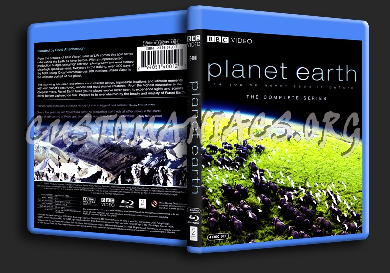 Planet Earth The Complete Series blu-ray cover