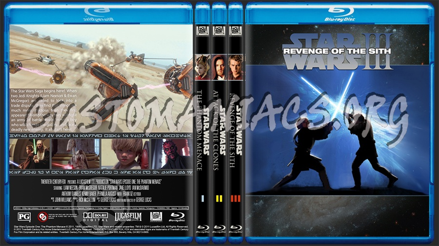 Star Wars PT: Episodes I, II, & III blu-ray cover