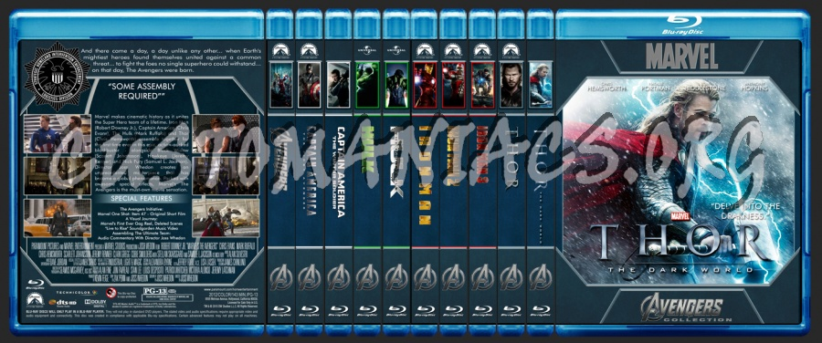 Avengers Collection blu-ray cover
