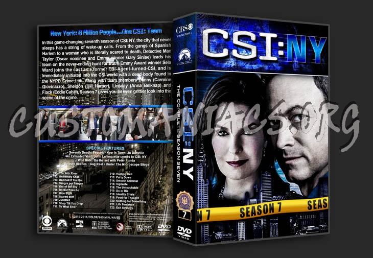 CSI: NY - Seasons 1-9 (3370x2175) dvd cover