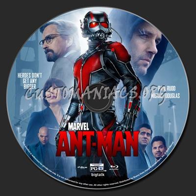 Ant-Man blu-ray label