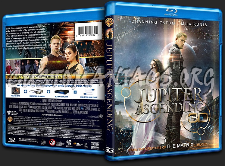 Jupiter Ascending (3D) blu-ray cover