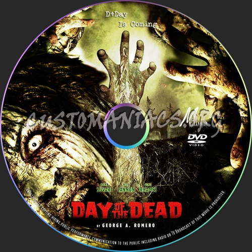 Day of the Dead dvd label