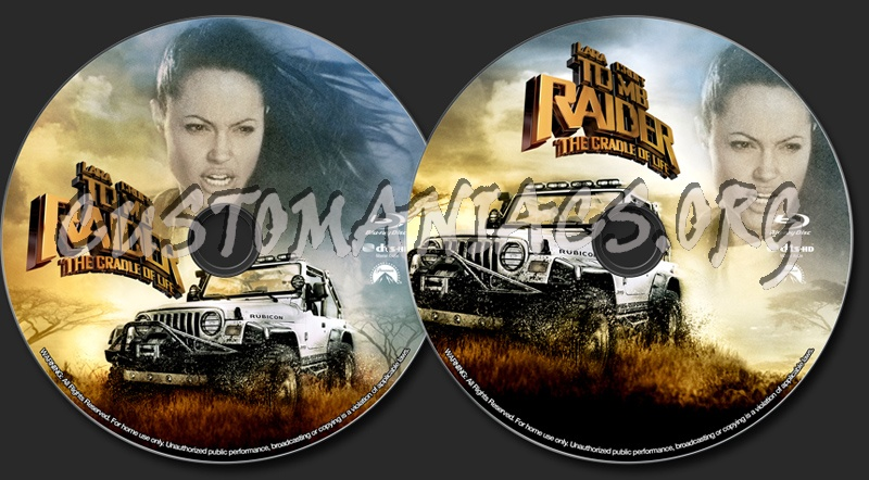 Lara Croft Tomb Rider The Cradle Of Life Blu Ray Label