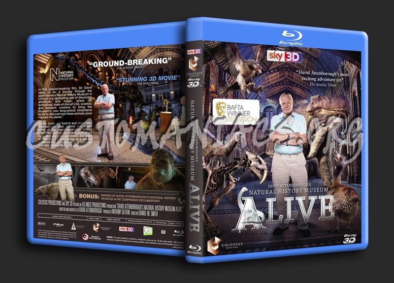 David Attenborough's Natural History Museum Alive blu-ray cover