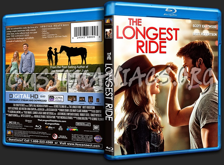the longest ride blu ray cover dvd covers labels by customaniacs
