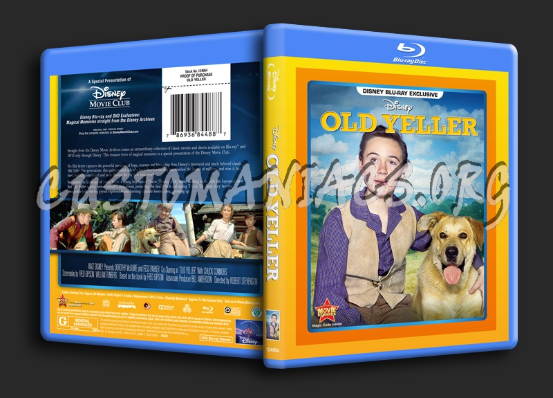 Old Yeller blu-ray cover