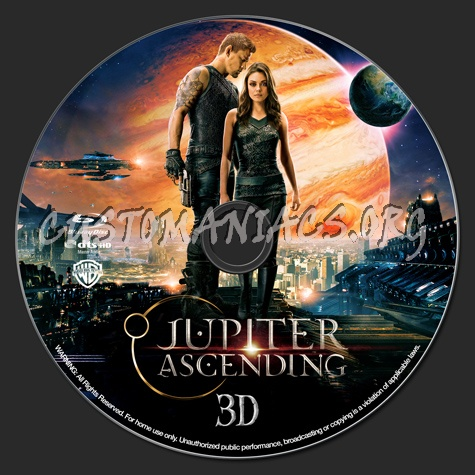 Jupiter Ascending (3D) blu-ray label