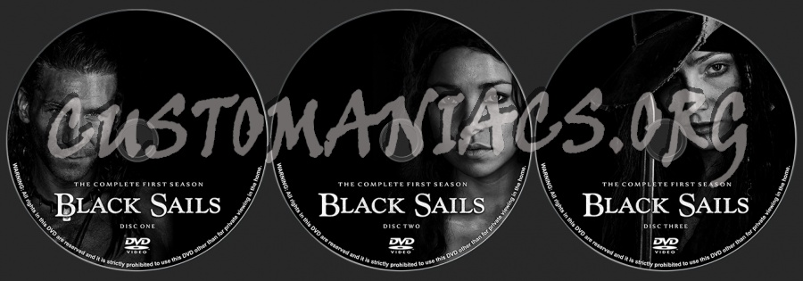 Black Sails Season 1 dvd label
