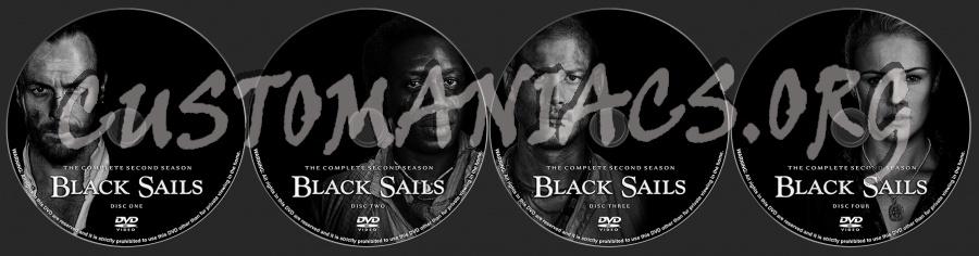 Black Sails Season 2 dvd label
