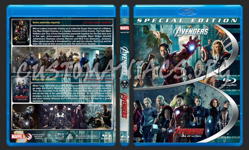 The Avengers Double Feature blu-ray cover