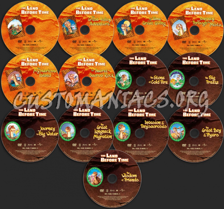 The Land Before Time Collection dvd label