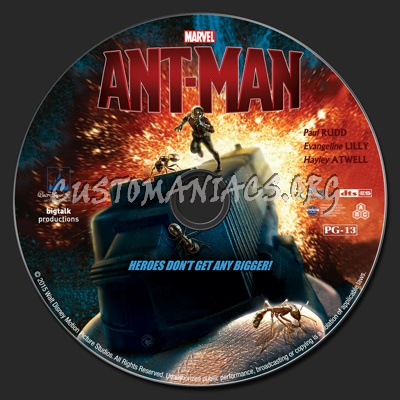Ant-man blu-ray label