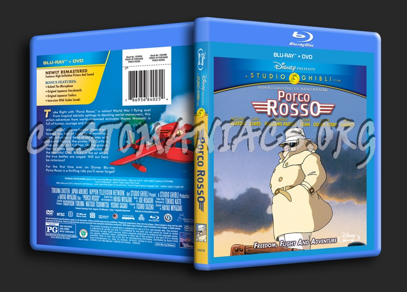 Porco Rosso blu-ray cover
