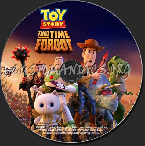 Toy Story that Time Forgot dvd label