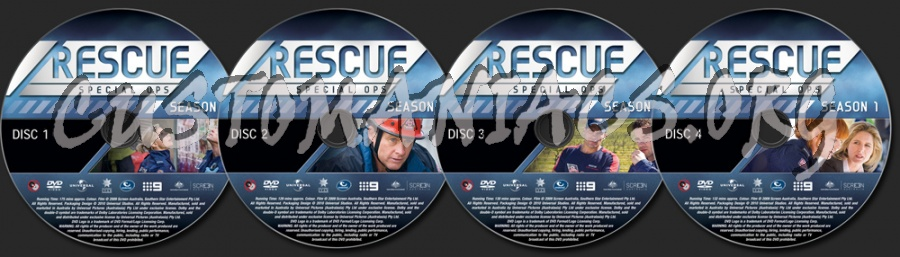 Rescue Special Ops Season 1 dvd label