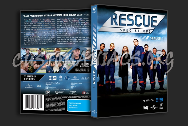 Rescue Special Ops Season 1 dvd cover