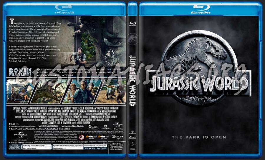 Jurassic World blu-ray cover