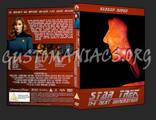 Star Trek The Next Generation: Season 7 dvd cover