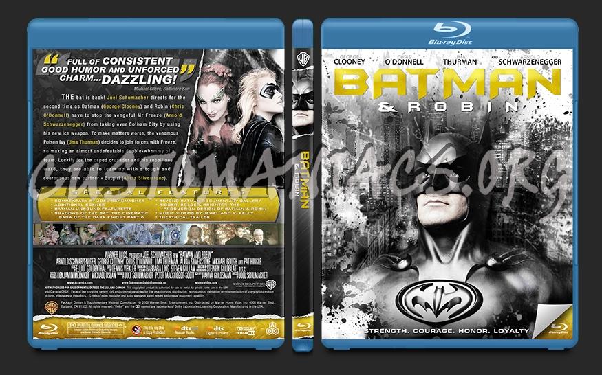 Batman and Robin blu-ray cover