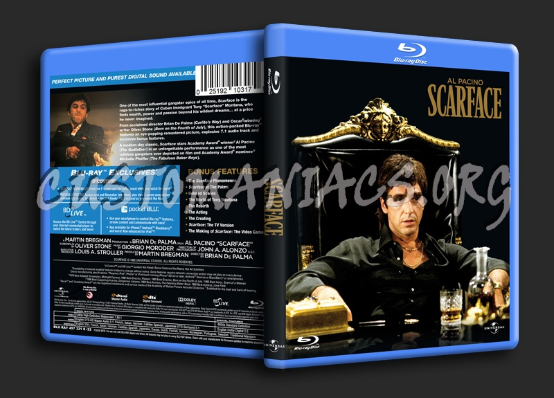 Scarface blu-ray cover