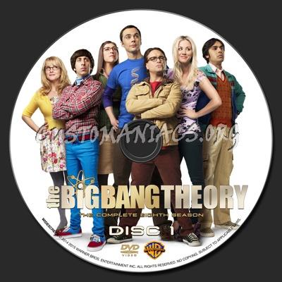 The Big Bang Theory Season 8 dvd label