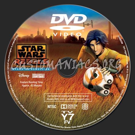 Star Wars Rebels Spark of Rebellion dvd label