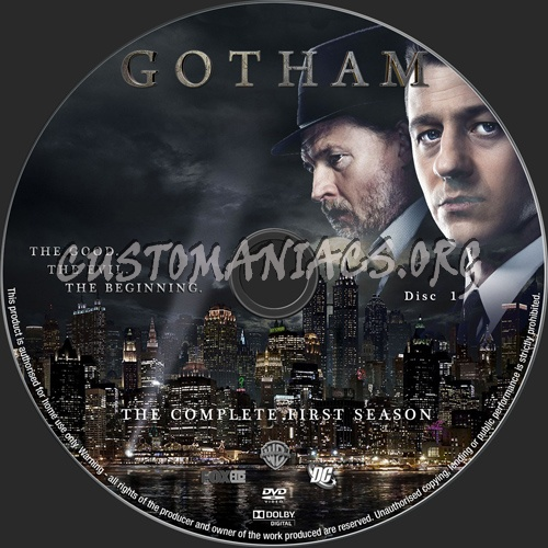 Gotham Season 1 dvd label