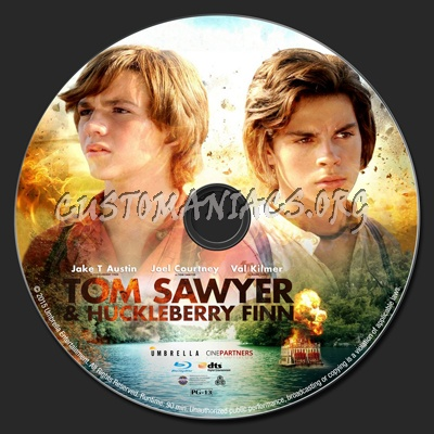tom sawyer huckleberry finn blu ray label dvd covers labels by customaniacs id 226899. Black Bedroom Furniture Sets. Home Design Ideas