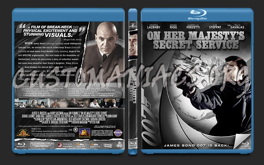 On Her Majesty's Secret Service blu-ray cover