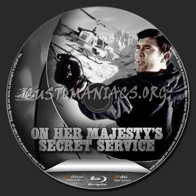 On Her Majesty's Secret Service blu-ray label