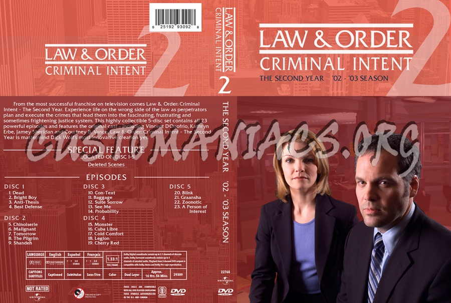 law and order criminal intent antithesis Watch law & order: criminal intent - season 2, episode 3 - anti-thesis: as goren and eames sift through the likely suspects in the murder of a university president and his assistant, they.