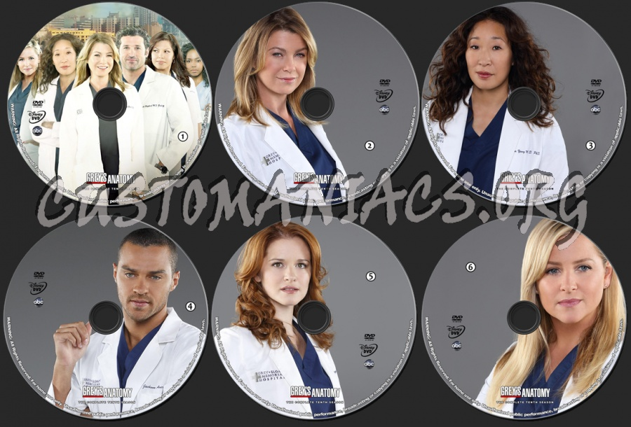 Greys Anatomy Season 10 Dvd Label Dvd Covers Labels By