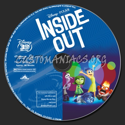 dvd covers labels by customaniacs view single post inside out 2d 3d. Black Bedroom Furniture Sets. Home Design Ideas