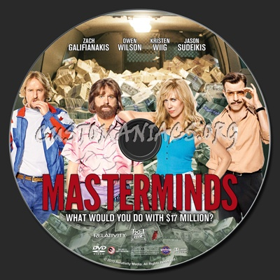 Masterminds (2015) dvd label