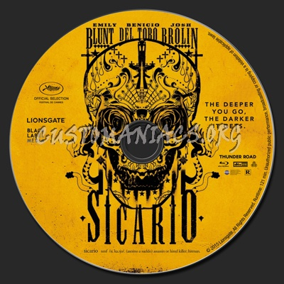 Sicario blu-ray label