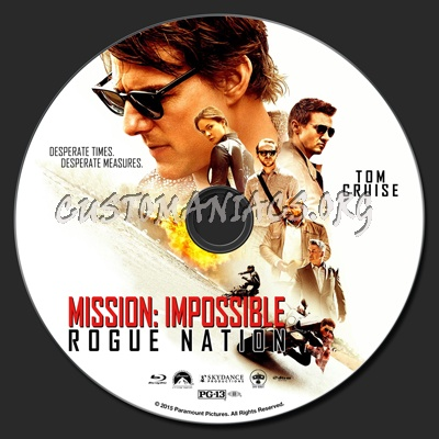 Mission: Impossible - Rogue Nation blu-ray label