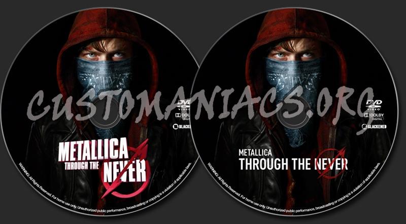 Metallica: Through the Never dvd label