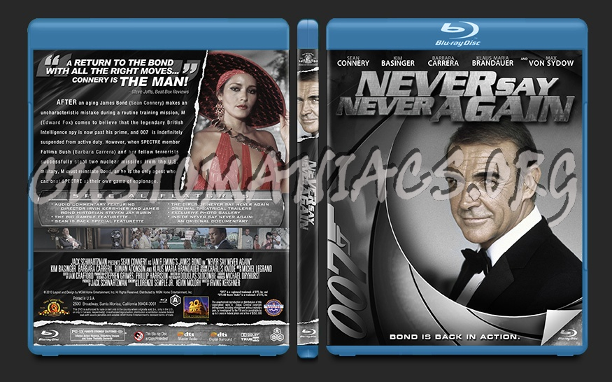 Never Say Never Again blu-ray cover