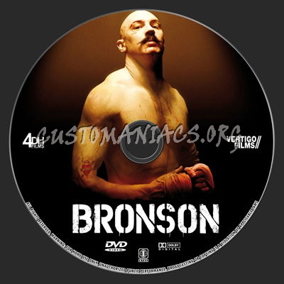 Bronson dvd label
