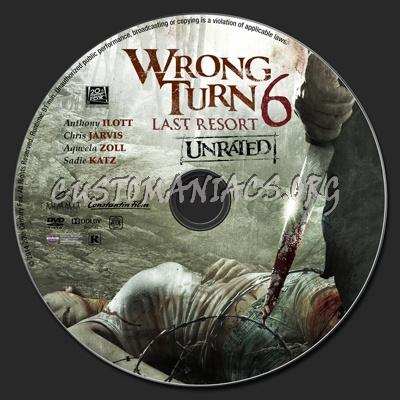 Wrong Turn 6: Last Resort dvd label