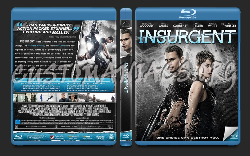 Insurgent blu-ray cover