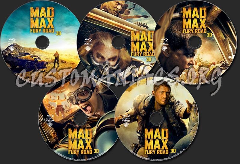 Mad Max: Fury Road (3D) blu-ray label