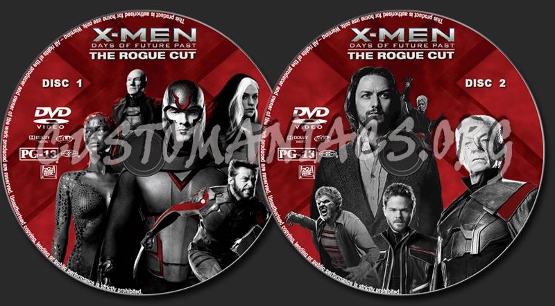 X-Men : Days of Future Past (Rogue Cut) dvd label