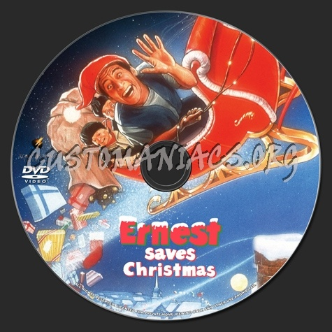 ernest saves christmas dvd label - Ernest Saves Christmas